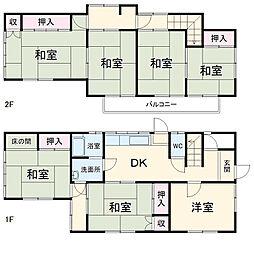 JR高崎線 北本駅 4kmの賃貸一戸建て 1階7DKの間取り