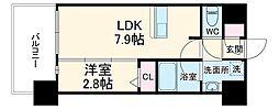 LANDIC K2620 9階1LDKの間取り
