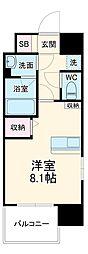 JR東海道本線 三河安城駅 徒歩6分の賃貸マンション 9階1Kの間取り