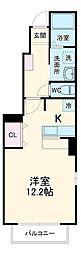 湘南新宿ライン高海 新前橋駅 徒歩22分の賃貸アパート 1階1Kの間取り