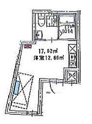 プレミア中野野方 4階ワンルームの間取り