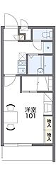愛知高速東部丘陵線 杁ヶ池公園駅 バス12分 市ヶ洞下車 徒歩4分の賃貸マンション 2階1Kの間取り
