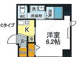 JR山手線 西日暮里駅 徒歩12分の賃貸マンション 1階1Kの間取り