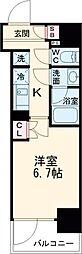 JR山手線 大崎駅 徒歩7分の賃貸マンション 7階1Kの間取り