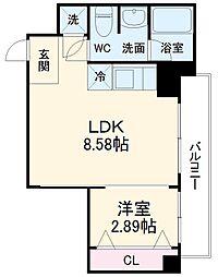 LEGIAN 3階1LDKの間取り