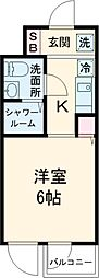 小田急小田原線 下北沢駅 徒歩4分の賃貸マンション 3階1Kの間取り