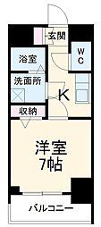名古屋市営桜通線 中村区役所駅 徒歩9分の賃貸マンション 4階1Kの間取り