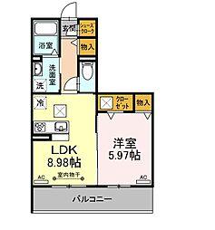 ホヌ 1階1LDKの間取り
