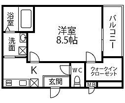 仮称 フジパレス千代田5丁目 3階1Kの間取り