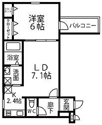 仮称 フジパレス千代田5丁目 3階1LDKの間取り