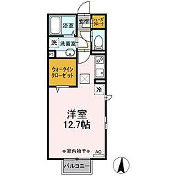 (仮)D-room江木町 1階ワンルームの間取り
