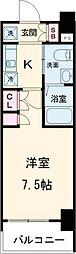AZESTお花茶屋II 3階1Kの間取り