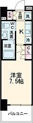 AZESTお花茶屋II 5階1Kの間取り