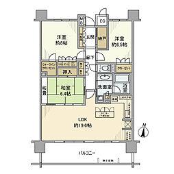 JR東北本線 東鷲宮駅 徒歩8分の賃貸マンション 2階3LDKの間取り