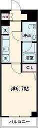 AZEST亀有II 4階1Kの間取り