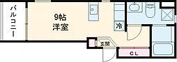 小田急小田原線 梅ヶ丘駅 徒歩10分の賃貸マンション 1階ワンルームの間取り