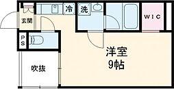 東武東上線 下板橋駅 徒歩8分の賃貸アパート 3階ワンルームの間取り