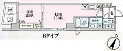 Luce 5階1LDKの間取り