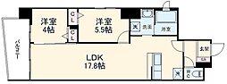 JR京浜東北・根岸線 大宮駅 徒歩10分の賃貸マンション 7階2LDKの間取り