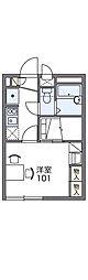 東武伊勢崎線 東武動物公園駅 徒歩14分の賃貸アパート 2階1Kの間取り