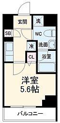 京急本線 京急川崎駅 徒歩6分の賃貸マンション 1階1Kの間取り