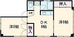 湯島明成ビル 3階2DKの間取り