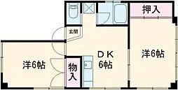 湯島明成ビル 4階2DKの間取り
