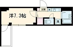 第76シンエイビル 4階1Kの間取り