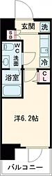 SHOKEN Residence亀有 14階1Kの間取り