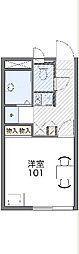 JR高崎線 高崎駅 バス25分 寄居下車 徒歩4分の賃貸アパート 1階1Kの間取り