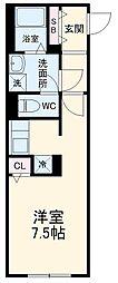 MTM東別院 5階ワンルームの間取り