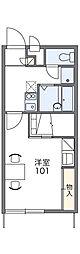 JR両毛線 前橋駅 バス34分 卸売センター下車 徒歩4分の賃貸アパート 2階1Kの間取り