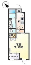 仮)阿見町阿見新築スターテラス 1階1Kの間取り