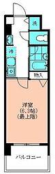 第7千代鶴ビル 10階1Kの間取り