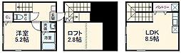 京急逗子線 逗子・葉山駅 徒歩7分の賃貸アパート 1階1LDKの間取り