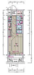 名古屋市営名城線 東別院駅 徒歩2分の賃貸マンション 9階1Kの間取り