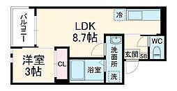 仮称)REGALEST東千葉 2階1LDKの間取り