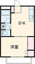 ハイツ麹町 2階1DKの間取り