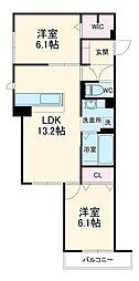 (仮称)D-room熊野町4丁目 1階2LDKの間取り