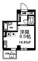 ル・プランタン 2階ワンルームの間取り