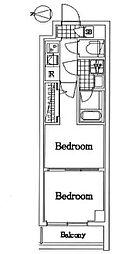 ラフィスタ蒲田南II 5階2Kの間取り