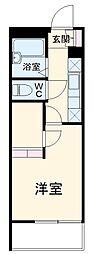 東武伊勢崎線 和戸駅 徒歩3分の賃貸マンション 3階1Kの間取り