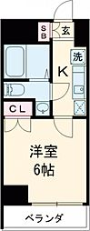 JR山手線 目黒駅 徒歩8分の賃貸マンション 5階1Kの間取り