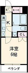 GRANPASEO目黒 5階1Kの間取り