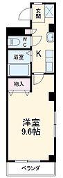 名古屋市営桜通線 神沢駅 徒歩11分の賃貸アパート 2階1Kの間取り