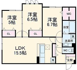 (仮称)D-room北桜塚3丁目 1階3LDKの間取り