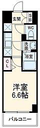 N-stage Fujisawa 3階1Kの間取り