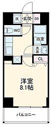 ベラジオ京都西院ウエストシティIII 1階1Kの間取り