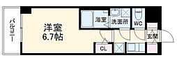 S-RESIDENCE熱田 5階1Kの間取り