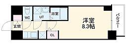 S-RESIDENCE熱田 7階1Kの間取り
